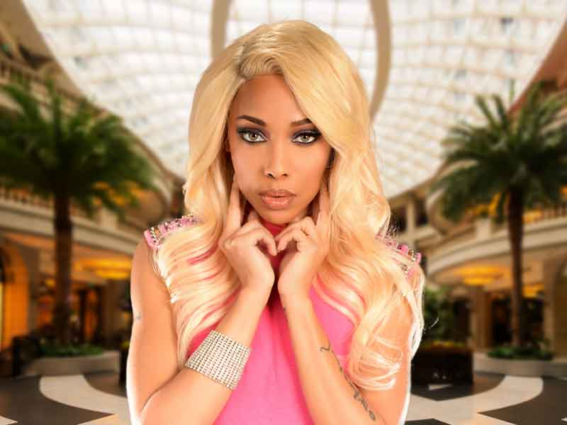 Long Platinum Blonde Lace Front Hairstyle from Tiffany Jones