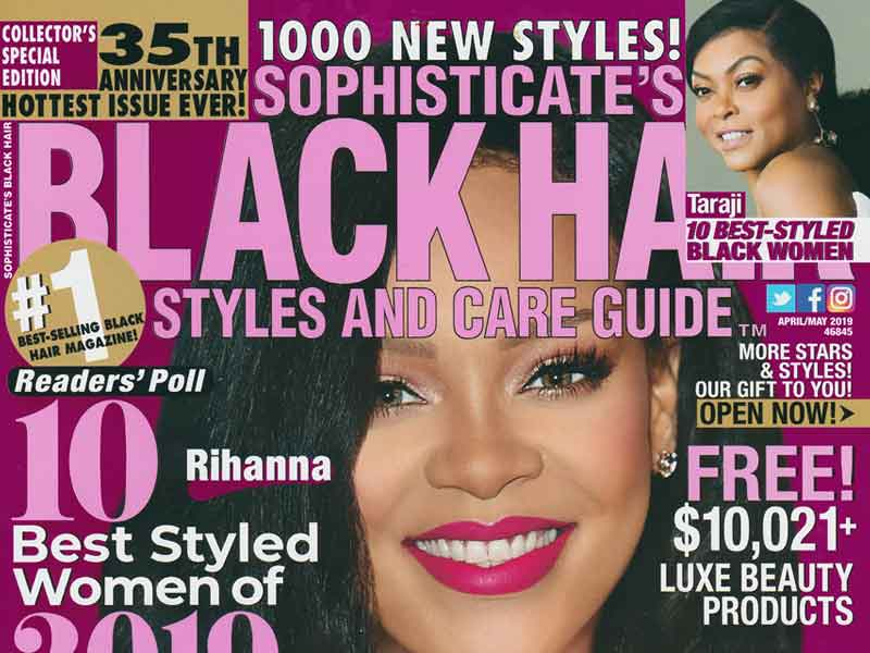 UniversalSalons.Com Gets 36 Hairstyles Published in April / May Issues