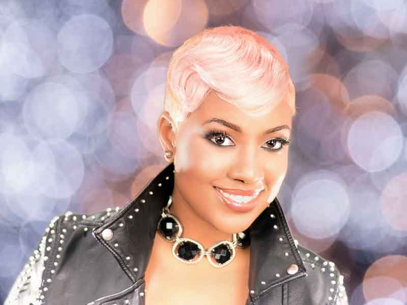Edgy Short Hairstyle for Black Women from Rose Mz. Magic Wand