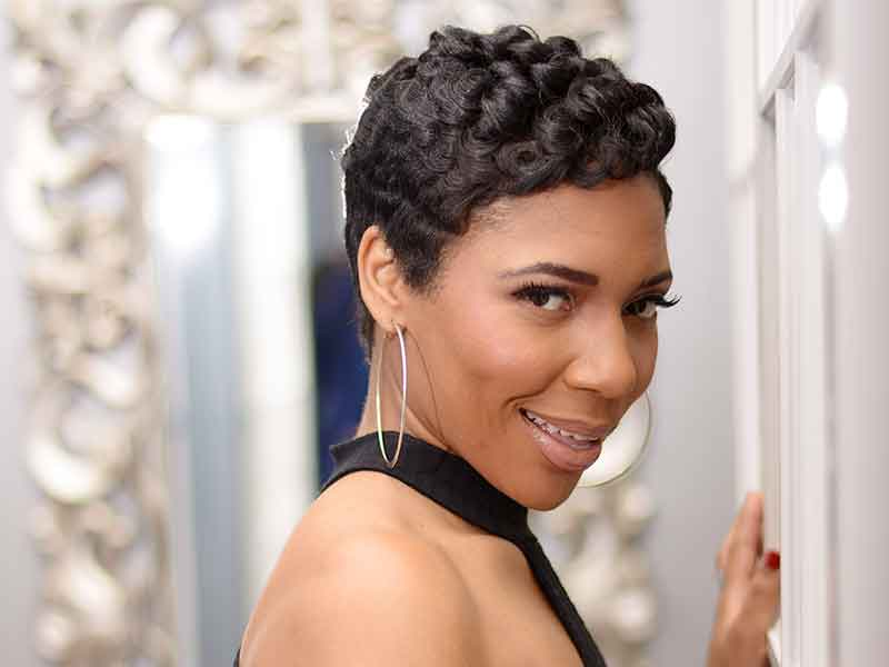 Pretty Pixie Hairstyle with Soft Curls from Booh Weave