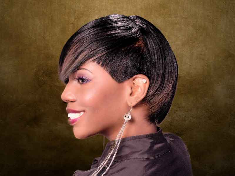 Short Hairstyle with a Beautiful Bang