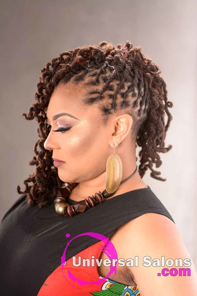 Left Side: Beautiful Handcrafted Permanent Loc Extensions