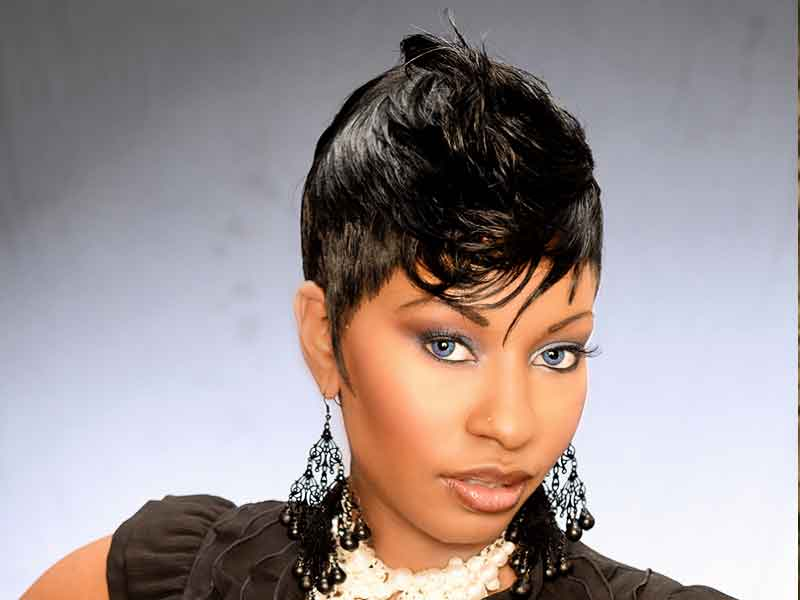 Short Tapered Bond Black Hairstyle