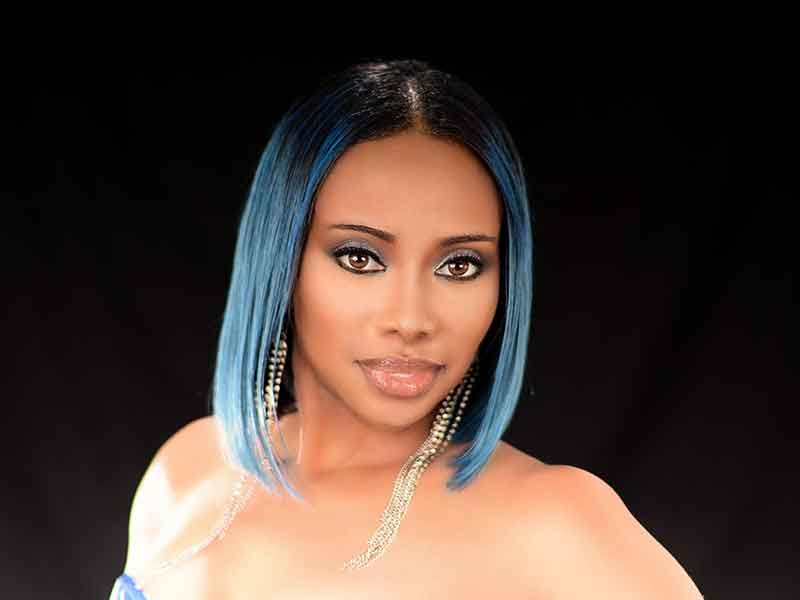 Bob Hairstyle with Blue Hair Color