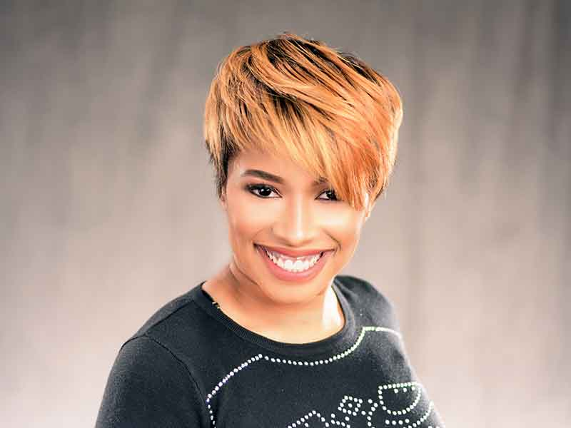 Short Hairstyle with Color