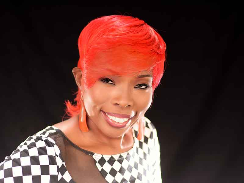 Fire Red Short Hairstyle