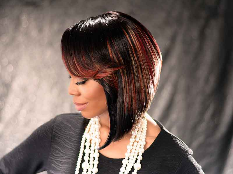 Bob Hairstyle with Hair Color