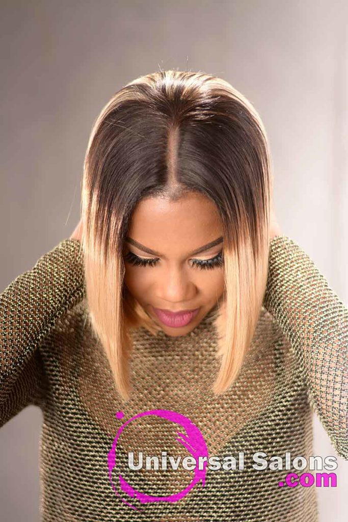 Cover View: Blunt Cut Bob Hairstyle with Movement
