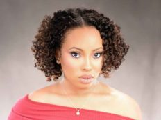 Double Flat Twist Curly Natural Hair with Highlights