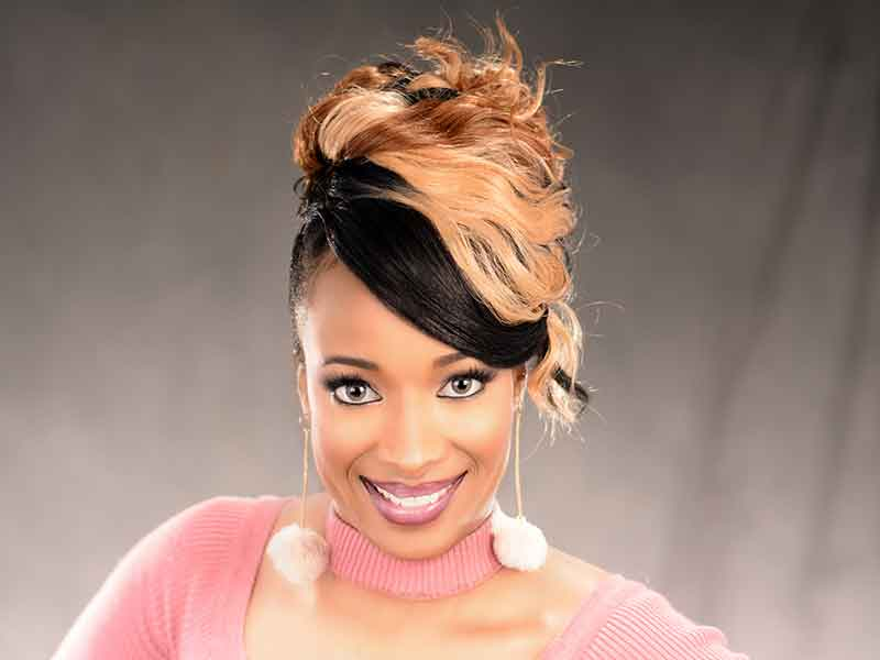 Elegant Updo Hairstyle with a Double Braid from Terisina Jackson