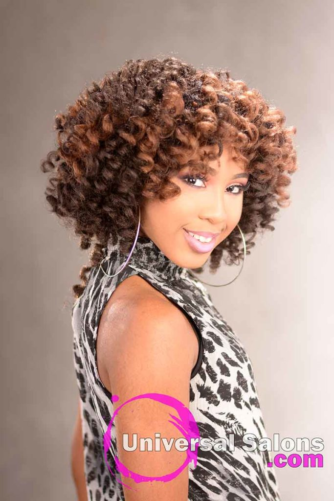 Right View - Crochet Hair Locs Protective Style