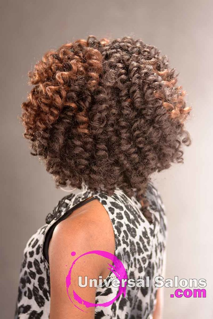 Back View - Crochet Hair Locs Protective Style