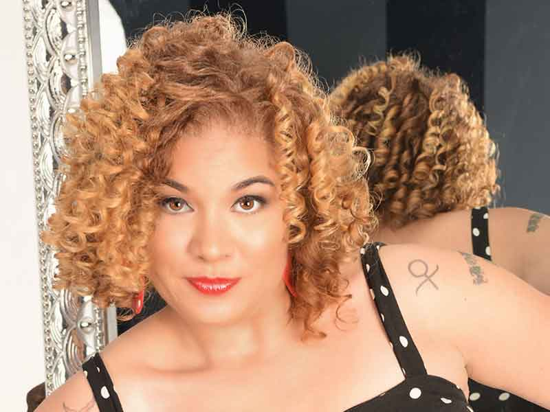 Curly Ringlets with Hair Color