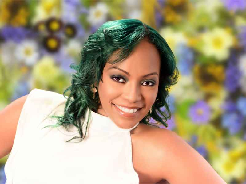 Emerald Green Hair Color on Natural Hair from Diane Hooks