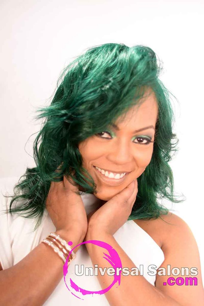 2nd Location Front: Emerald Green Hair Color on Natural Hair