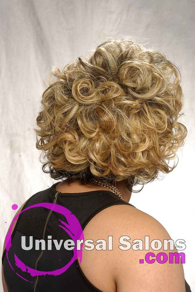 Blond Ambition Short, Curly Hairstyle for Black Women