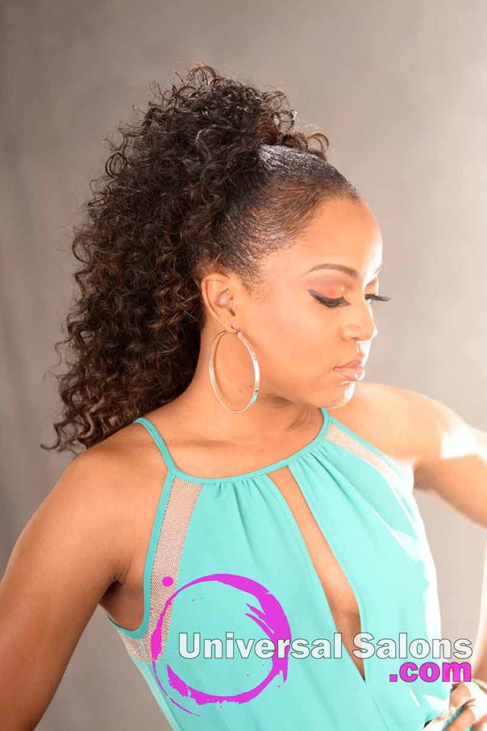 Left: Fantastic Long Curly Ponytail Hairstyle from Carla Harris in Columbia, SC