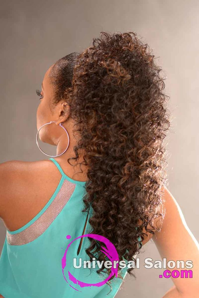 Back: Fantastic Long Curly Ponytail Hairstyle from Carla Harris in Columbia, SC