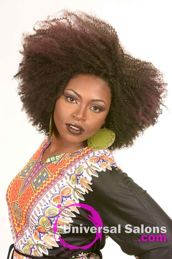 Natural Afrocentric Black Hairstyle from Tanisha Holland
