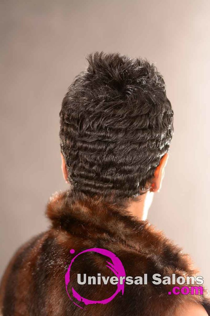 Back View: Short Precision Haircut from Shana Lucky-Scipio in Darlington, SC