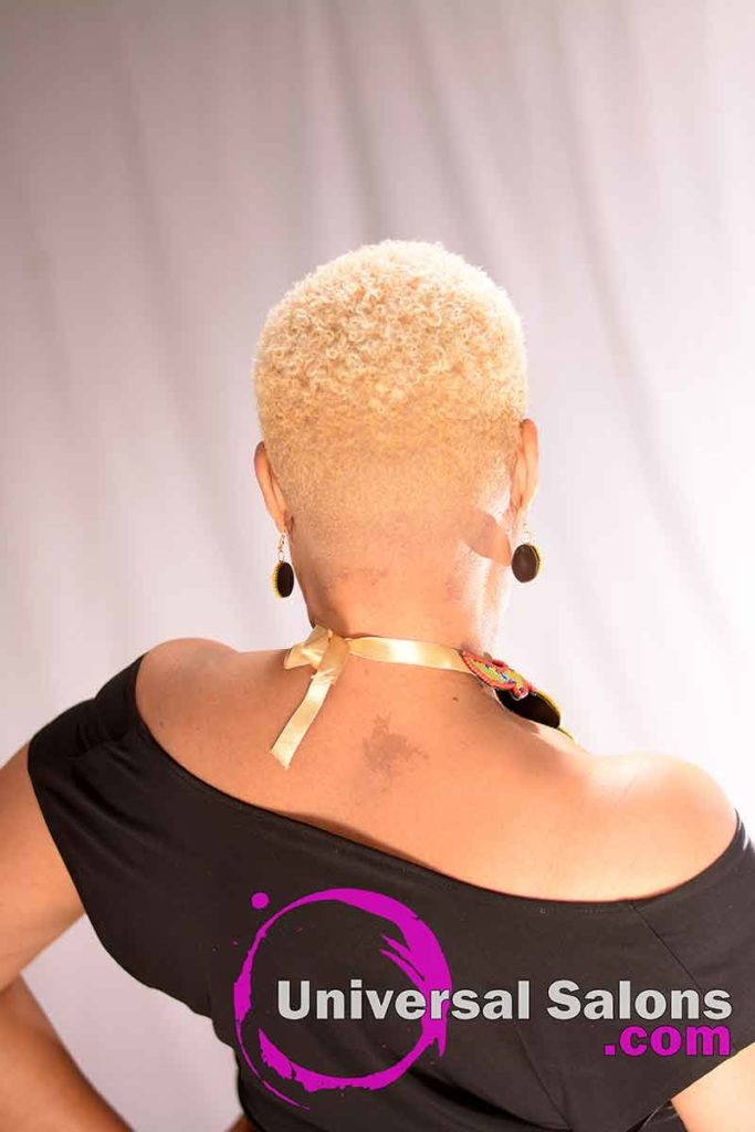 The Back View of a Natural Haircut for Black Females from Katrina Payne in Walterboro, SC