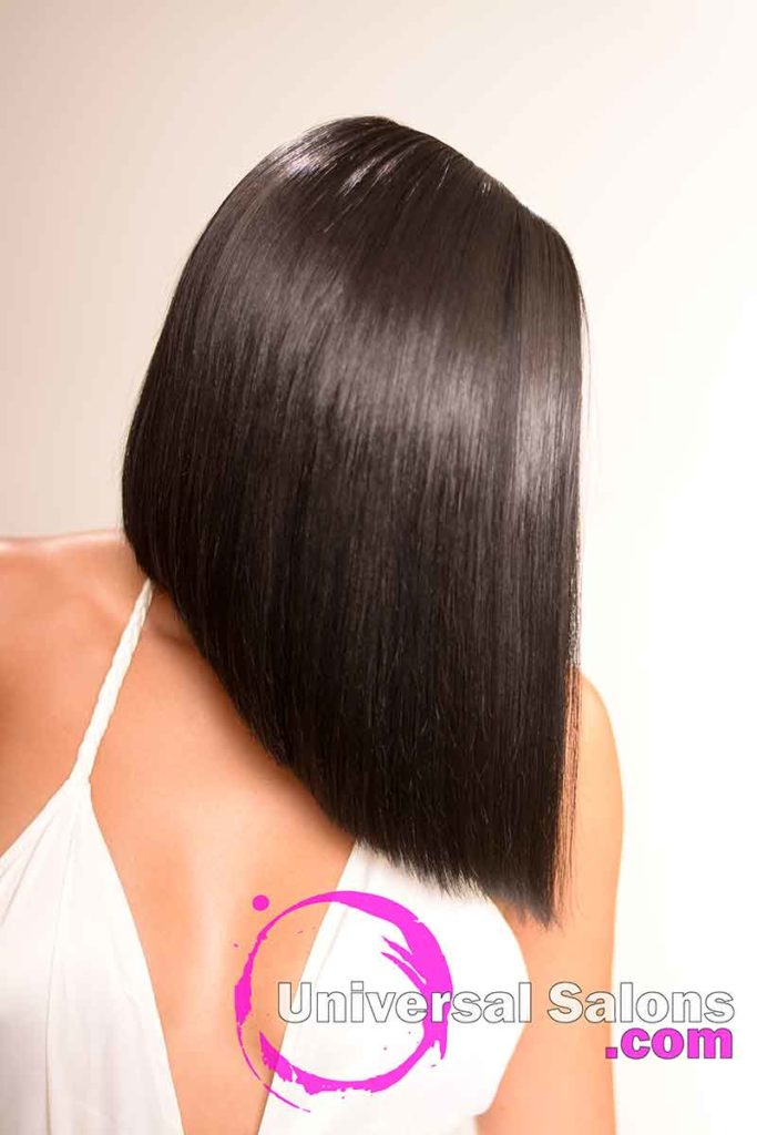 Right View of a Chic Sew In Bob Hairstyle