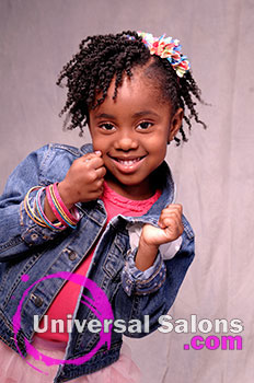Cute Tight Curls Black Hairstyles for Little Girls