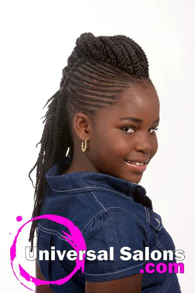 Kids Braided Black Hairstyles for Little Girls