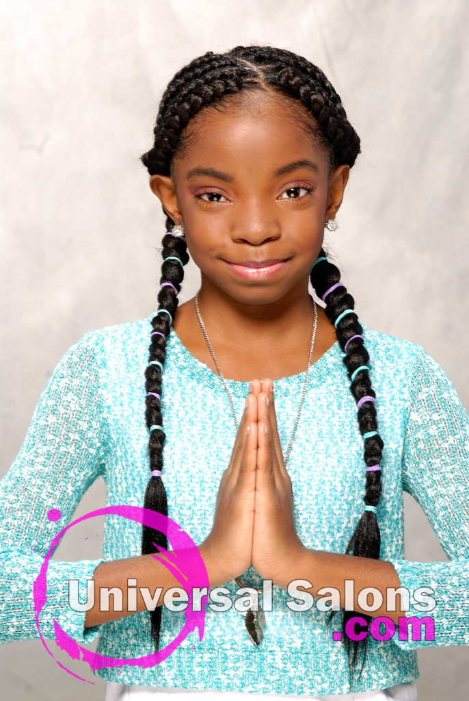 Kid's Cornrow Braids Black Hairstyles for Little Kids