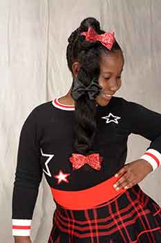 Right View: Thick Chunky Braids Black Hairstyles for Little Girls