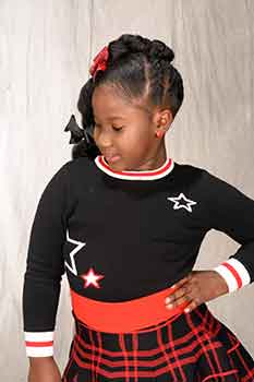 Left View: Thick Chunky Braids Black Hairstyles for Little Girls