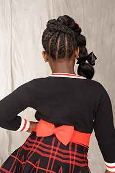Back View: Thick Chunky Braids Black Hairstyles for Little Girls