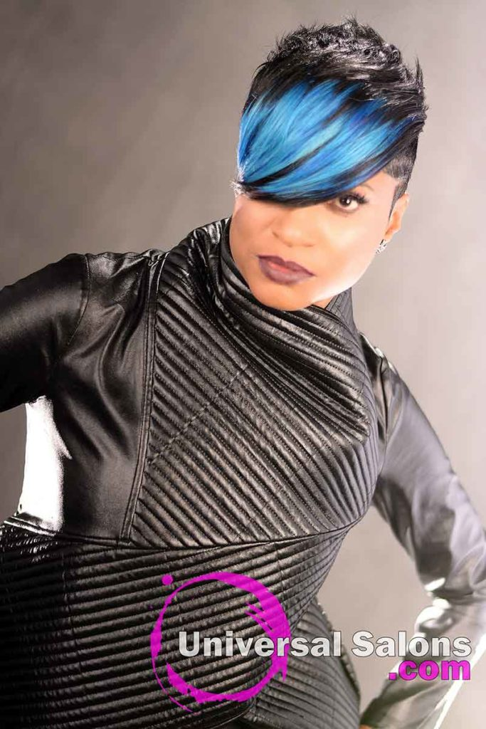Short Beautiful Brush Cut Hairstyle With a Swoop Bang