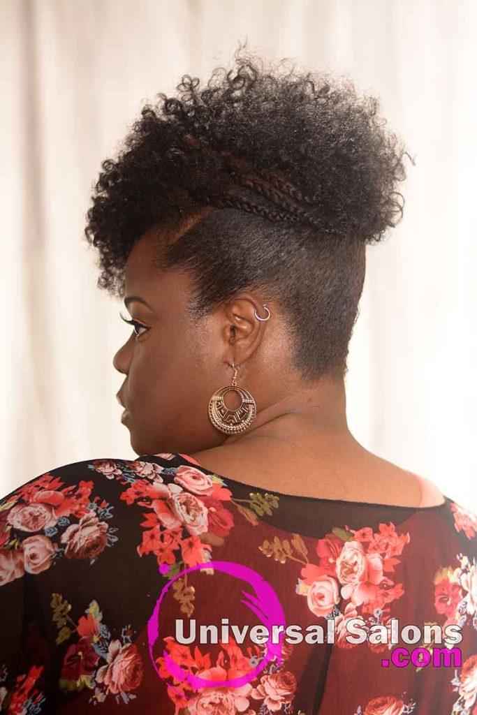 Back Left View: Elegant Curly Updos Hairstyle