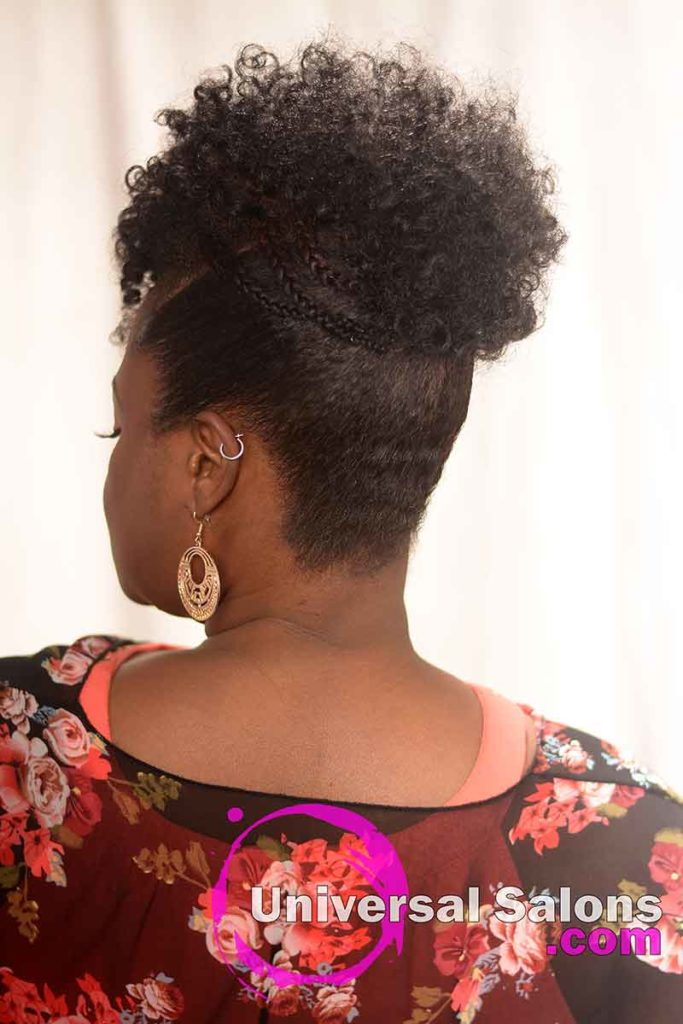 Back View: Special Curly Updo Hairstyle