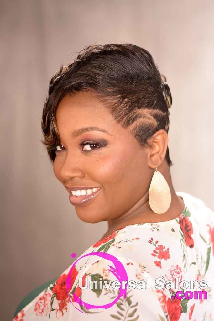 Short Brush Cut Hairstyle for Black Women