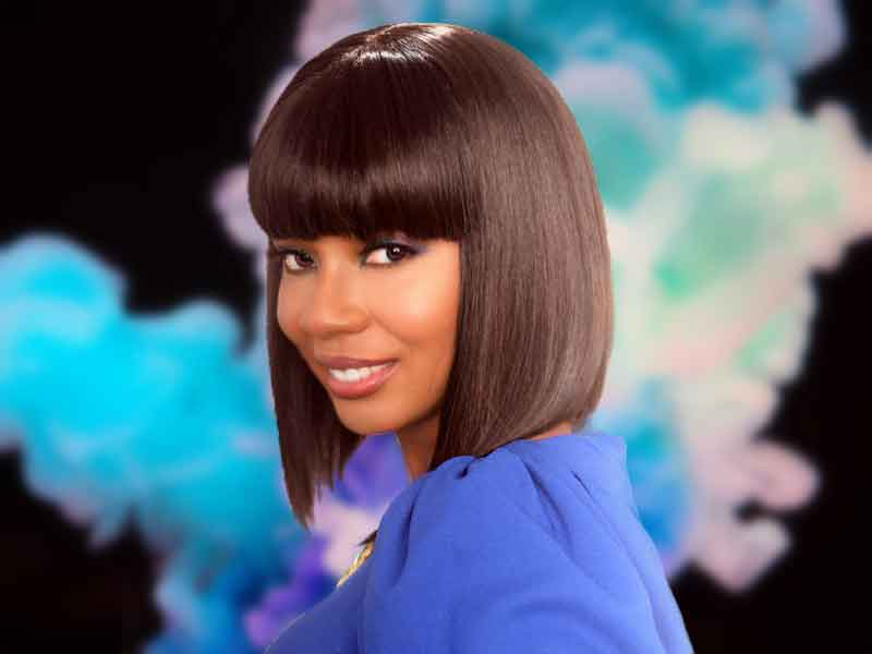 Asymmetrical Bob Hairstyle for Black Women