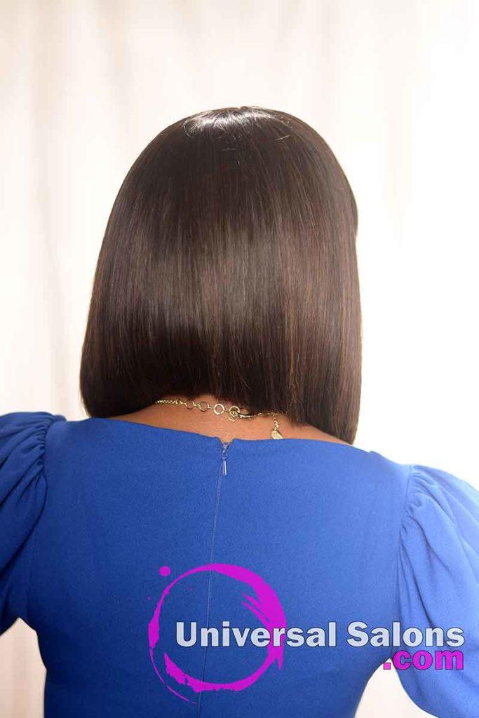 Back View of a Asymmetrical Bob Hairstyle