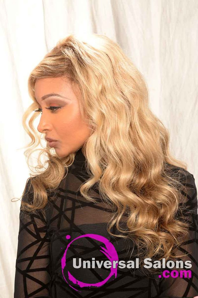Ashe Blond Lace Front Wig Hairstyle
