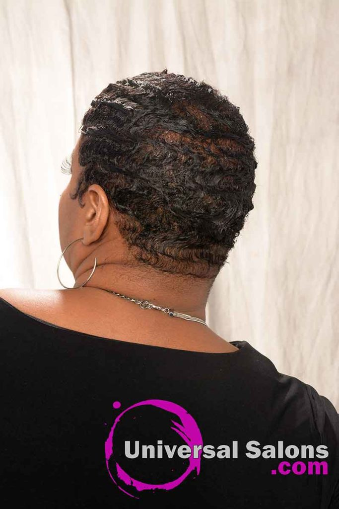 Back View: Finger Waves With Color