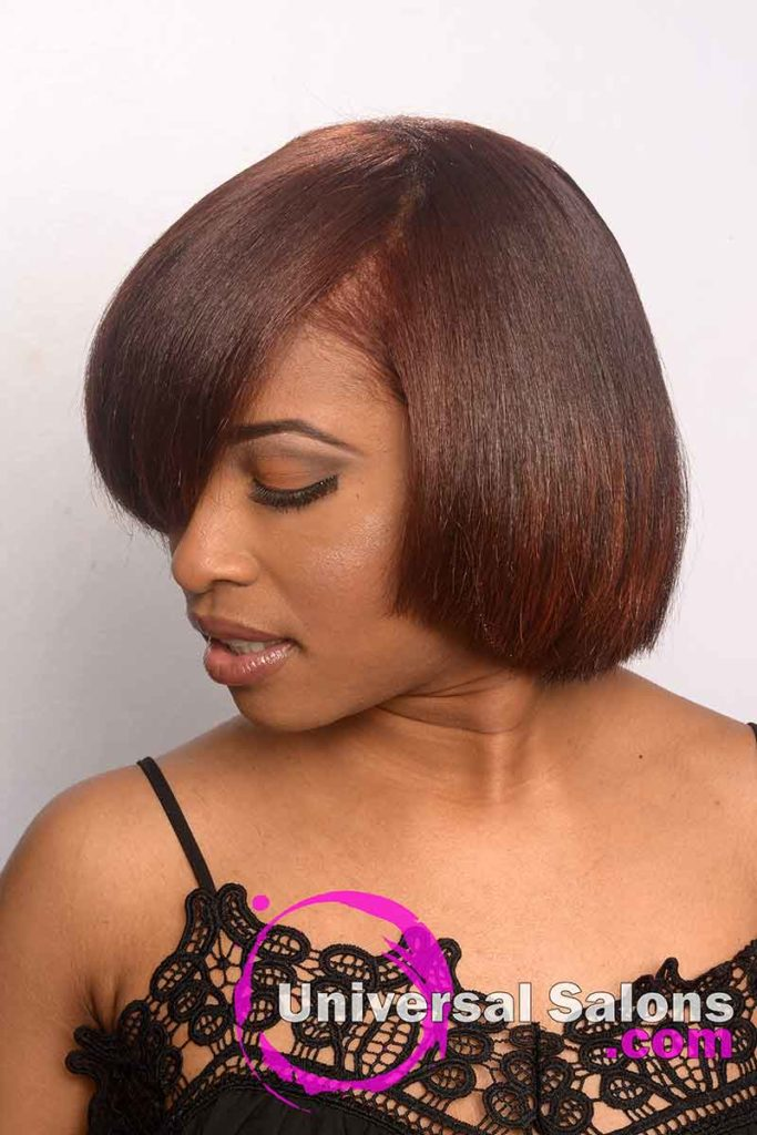 Left View of Natural Hairstyles With color