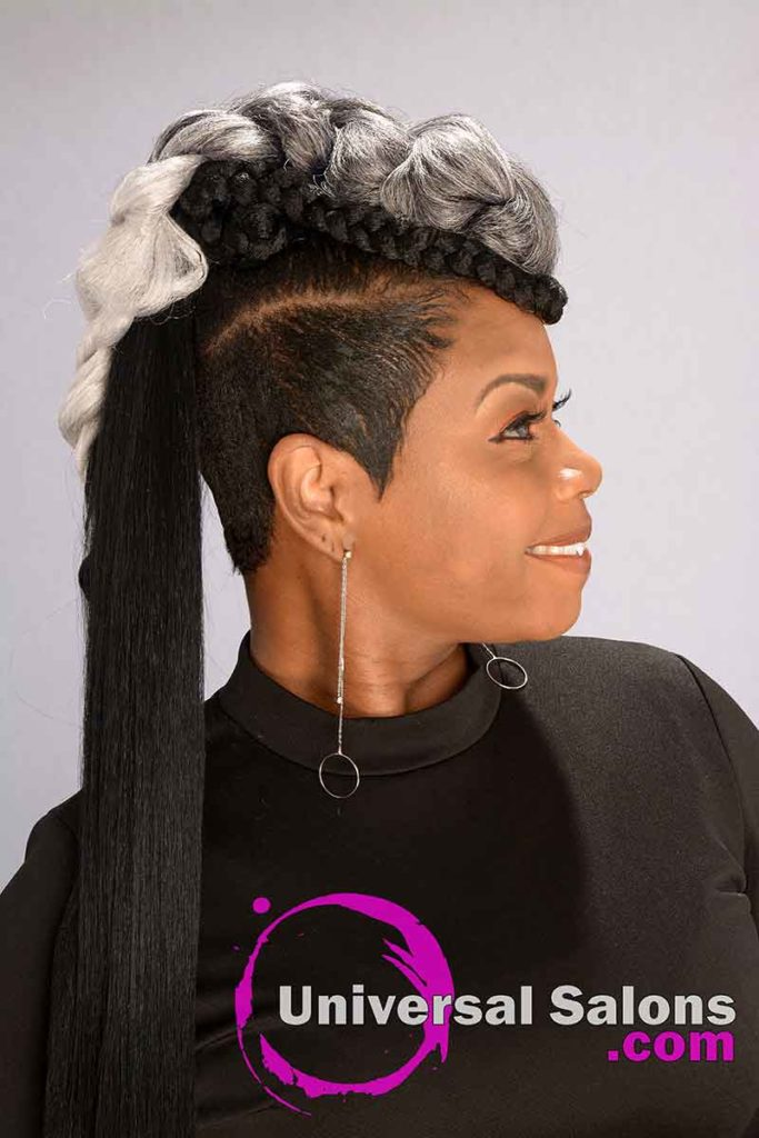Right View of Long Ponytails for Black Women