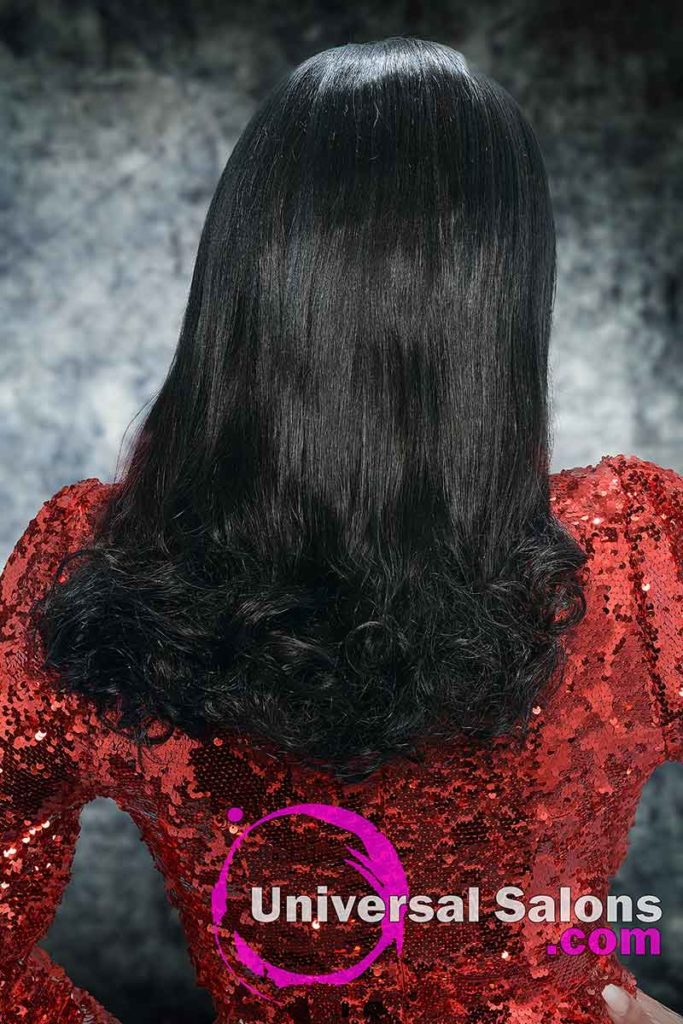 Back View of Sew-in Weave Hairstyle