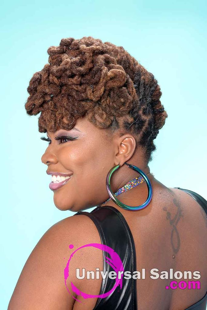 Left View of a Locks Updo Hairstyle