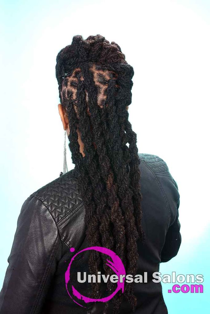 Back View: Long Locks Hairstyle