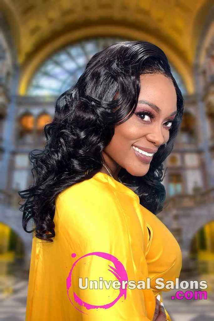 Right View of 4x4 Lace Closure Wig