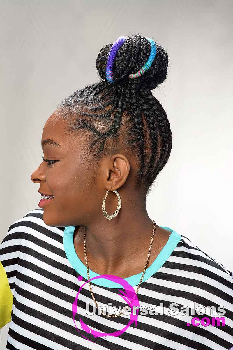 Left View Protective Hairstyles for Kids