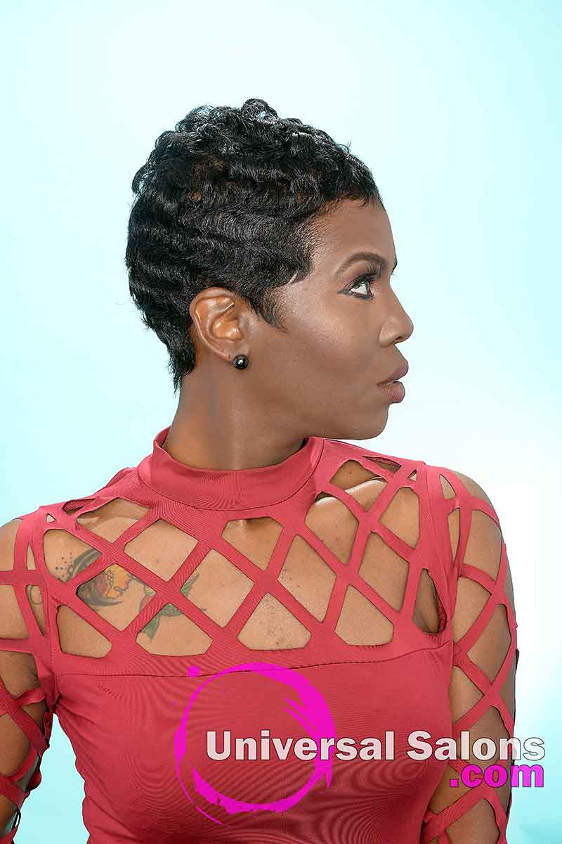 Pixie Haircut With Finger Waves