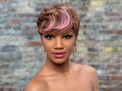 Short Pixie Cut for Black Women With Color
